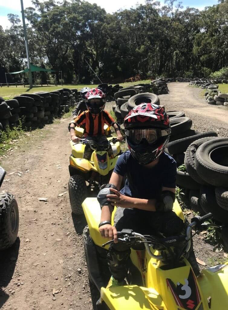 Years 4, 5 and 6 Camp fun, quad bikes 1