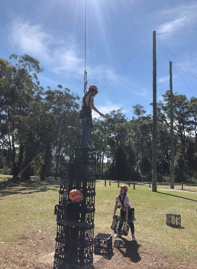 Years 4, 5 and 6 Camp fun, ropes 1