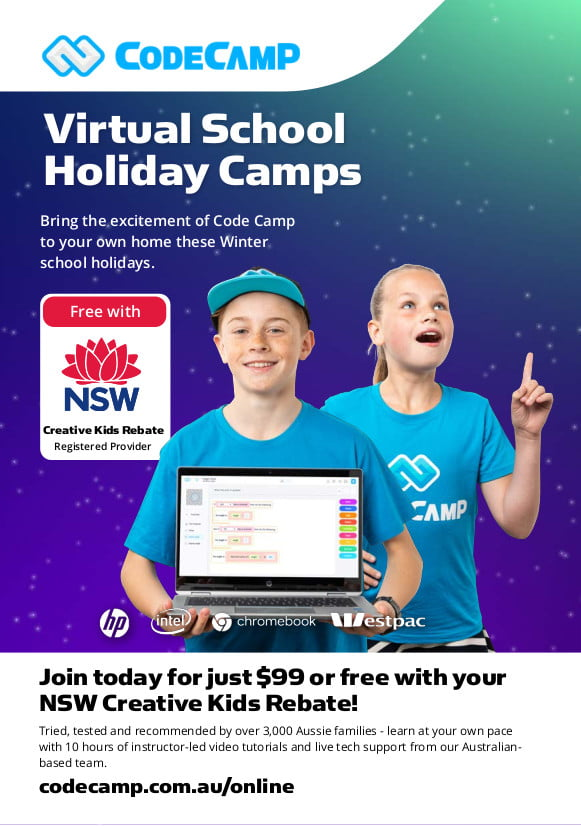 School Holiday Virtual Code Camp, Virtual Holiday Camps NSW 3 1