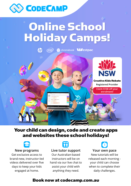 Code Camp, Online Holiday Camps NSW