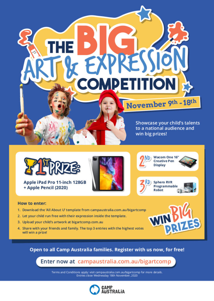 Camp Australia OSHC, Big Art Comp Poster 1