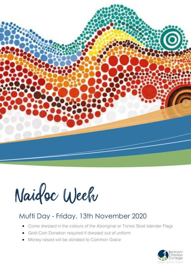 NAIDOC Week Mufti Day, Naidoc Week Flyer