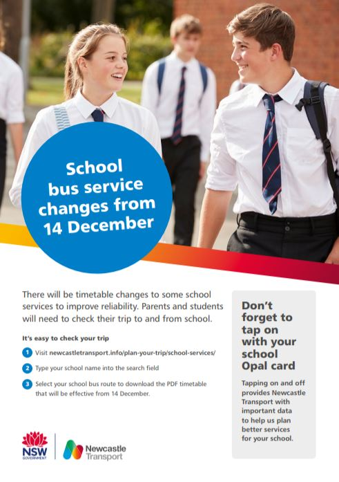 School Bus Service Changes, Bus changes