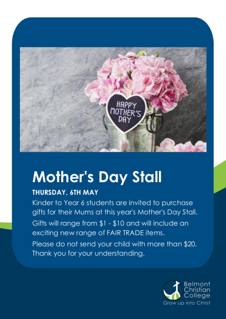 Mother's Day Stall, Mothers Day Stall Flyer 1