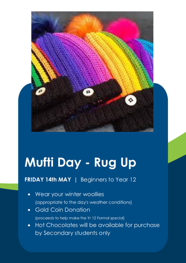 'Rug Up' Mufti Day, Mufit Day Rug Up