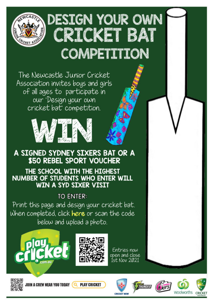 Sport News, NJCA Design a bat competition