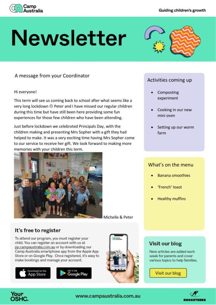 OSHC News, OOSH Newsletter Term 4 week 1